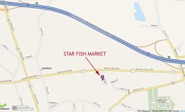 Star Fish Market Directions: I-95 to Exit 59